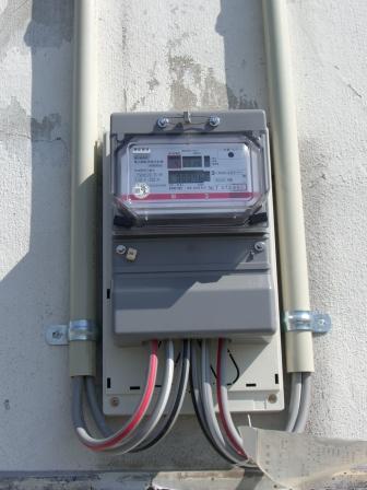 オール電化専用電力量計メーター取替え後 画像