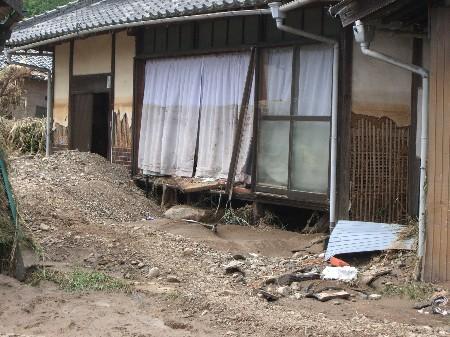 兵庫西部 北部 豪雨 佐用町 被害状況 画像 1
